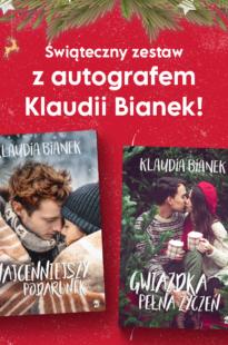 Świąteczny zestaw książek Klaudii Bianek  z autografem